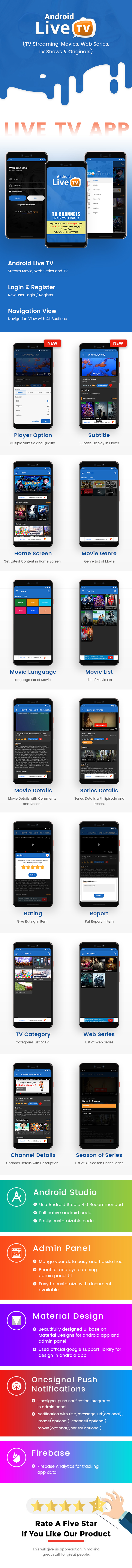 Android TV ao vivo (streaming de TV, filmes, séries da Web, programas de TV e originais) - 7