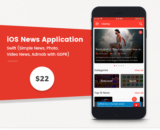 News Application Combo - Android / iOS (Simple News, Photo, Video News, Admob with GDPR) - 8